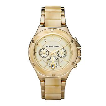 Michael Kors Ladies Watch Gold Tone Chronograph MK5449