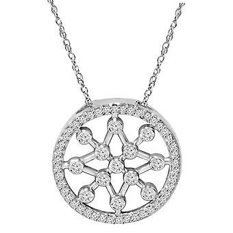 1 / 3ct ympyrä tähti hiutale Dreamweaver Diamond riipus 14K