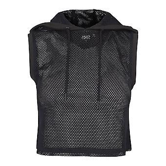 Urbano classici signore - maglia fitness ritagliata felpa con cappuccio nero
