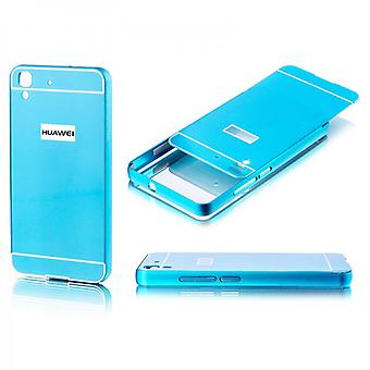 Aluminium bumper 2 pieces with cover blue for Huawei Y6