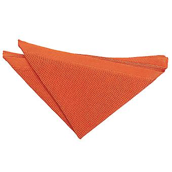 Brændt Orange strikkede Pocket Square