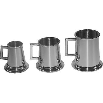 Set of Three Pewter Tankard Measurers