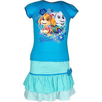 Κορίτσια ER1231 πόδι περιπολίας κοντό μανίκι T-shirt & φούστα που μέγεθος 3-6 χρόνια