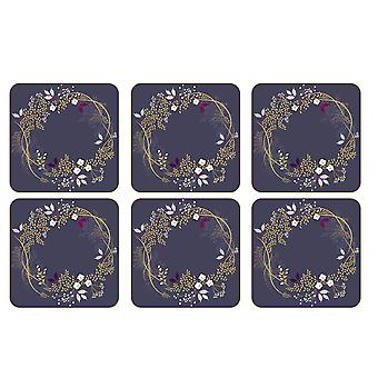Sara Miller Garland Coasters, Set of 6