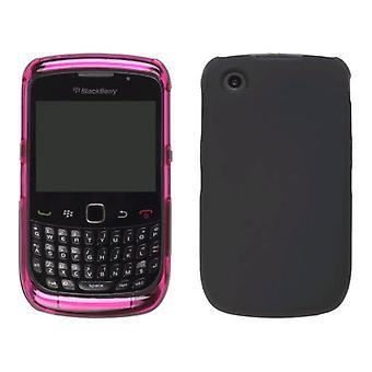 Pink & Black Hybrid Snap-On Case for BlackBerry 8520 Curve2 9300 9330 Curve 3G