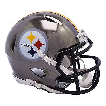 Riddell Mini Football Helm - NFL CHROME Pittsburgh Steelers