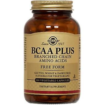 Solgar BCAA Plus Vegetable Capsules (Branched Chain Amino Acids) 100 Ct