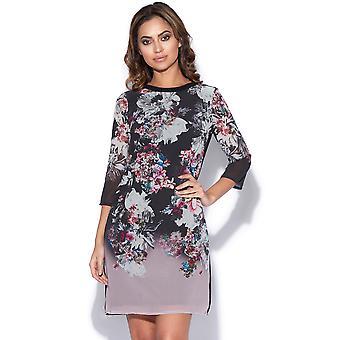 Autumn Floral Print Shift Dress