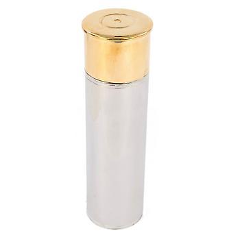 David Van Hagen 2-Tone Gun Cartridge 3 oz Hip Flask - Silver/Gold