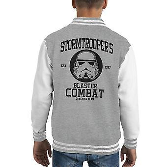 Originele Stormtrooper Blaster bestrijden Coaching Team Kid's Varsity Jacket