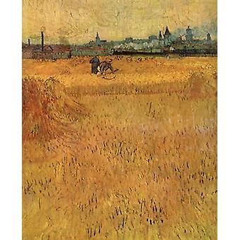 Vew from the Wheat Fields, Vincent Van Gogh, 73x54cm