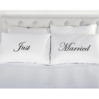 Just Married Pair of Pillowcases