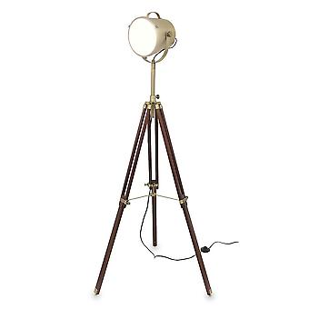 Retro lamp cinema floor lamp Humphrey Brown wooden tripod 10854