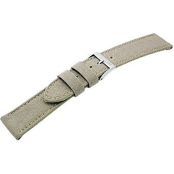 Morellato black leather strap 20 mm 2 A01U2779110026CR20 man CORDURA/beige