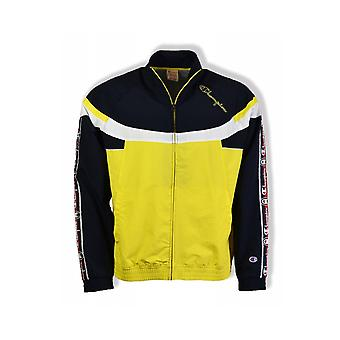 Champion Full Zip Track Track Top (Black/Yellow/White)