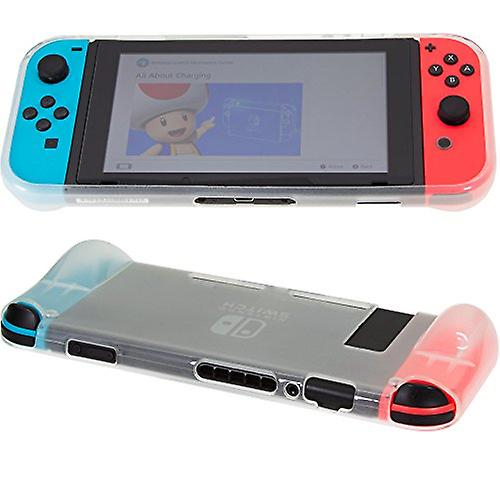 REYTID Replacement Handheld Travel Case Compatible with Nintendo Switch Console Comfortable Protective Bag Grip - White TPU Surface