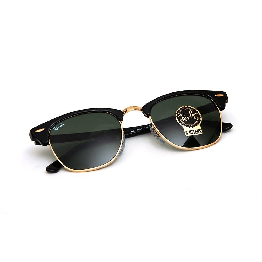 Ray Ban Sunglasses Rb3016 W0365 51 Clubmaster Black And Green Sunglasses