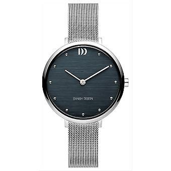 Deens design pure Amelia Watch-zilver/donkerblauw