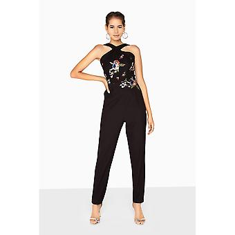 Little Mistress Womens/Ladies Hallie Sequin Embroidered Jumpsuit