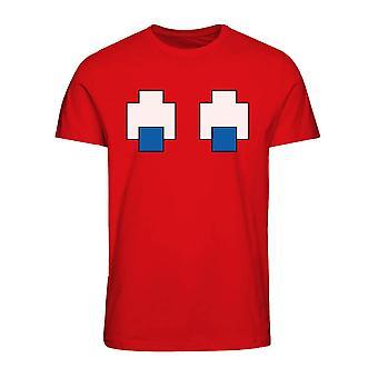 メン&アポス;s パックマンブリンキーゴーストアイズTシャツ