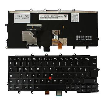 Lenovo ThinkPad X240 met pointer Black frame backlit zwart Windows 8 Duitse layout vervanging laptop toetsenbord