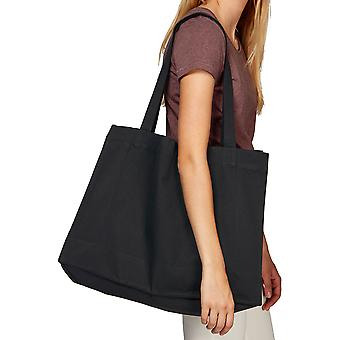 greenT Organic Polycotton Woven Over Shoulder Large Tote Bag