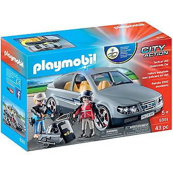 Playmobil 9361 City SWAT Undercover Car - Flashing Blue Light