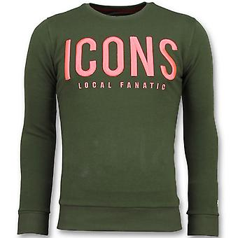 ICONS - Brand Sweater - 6349G - Green
