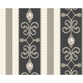 A.S. creatie als creatie sierlijke damast patroon behang ketting Stripe metallic Crystal 891334