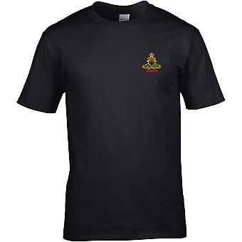 Royal Artillery Gunner-licenseret British Army broderet Premium T-shirt