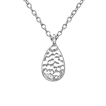 Pear - 925 Sterling Silver Plain Necklaces - W39230x