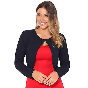KRISP Femei tricotate Fashion Jacket Blazer Crop Top Coat Smart Cardigan de iarnă Shrug