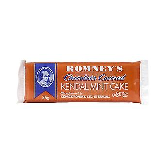 New Romney's Chocolate Kendal Mint Cake 55g Brown