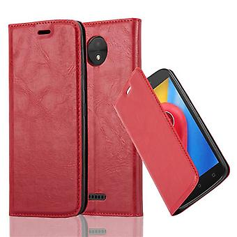Cadorabo case for Motorola MOTO C case cover - mobile phone case with magnetic clasp, stand function and card compartment – Case Cover Protective Case Case Book Folding Style