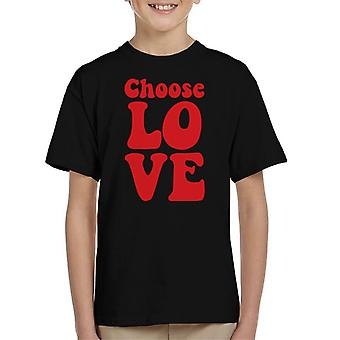 Choose Love Hippy Neon Kid's T-Shirt