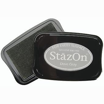 StazOn Solvent Ink Pad - Dove Gray