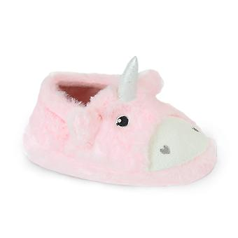 SlumberzzZ Filles Novelty Faux Fur Unicorn Ballet Slippers
