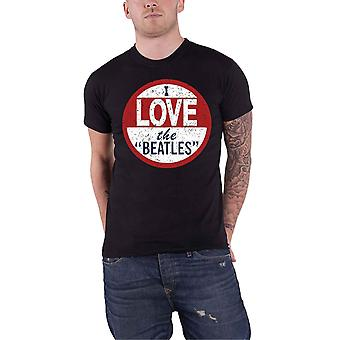 The Beatles T Shirt I love The Beatles Band Logo distressed Official Mens Black