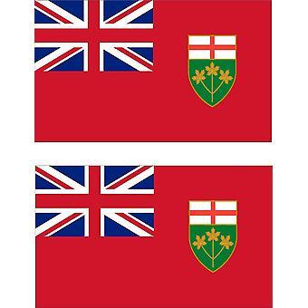 2 X Aufkleber Aufkleber Auto Pc Vinyl Macbook Flagge Kanada kanadischen Ontario