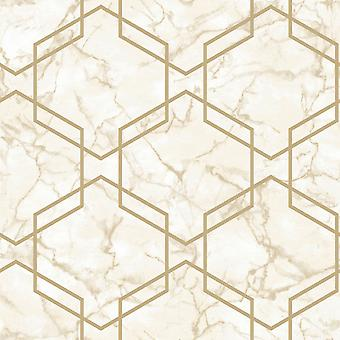 Marble Hexagon Geo Wallpaper Holden