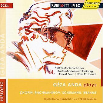 Geza Anda - G Za Anda Plays Chopin, Rachmaninov, Schumann & Brahms [CD] USA import