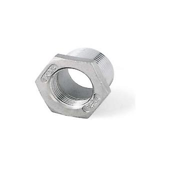 Bsp Hexagonal 3/4-quot; M To 1/2 'quot; F Reducing Bush - A4 (t316) Marine Grade Stainless Steel