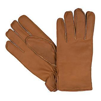 guantes de hombre bugatti Guantes de cabra napa de cuero Cognac 8351