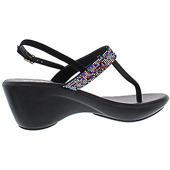 Callisto of California Womens Dysco Faux Suede Wedge Platform Sandals