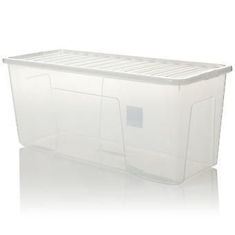 Wham opslag pallet deal X 72-133 liter extra grote plastic Opbergdozen met deksels