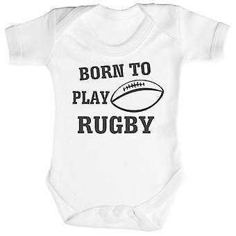 Né à jouer Body bébé Rugby / Babygrow