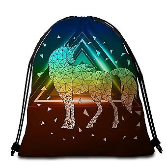 Glass Unicorn Beach Towel