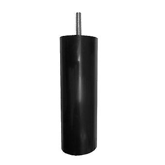 Mustat muoviset pyöreät huone kalut jalka 15 cm (M8)