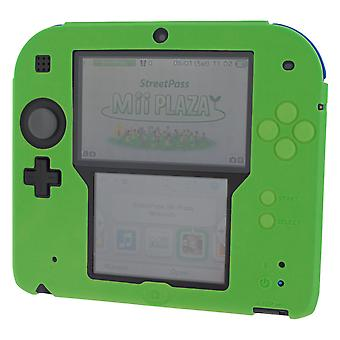 Zedlabz soft silicone gel protective cover rubber bumper case for nintendo 2ds - green