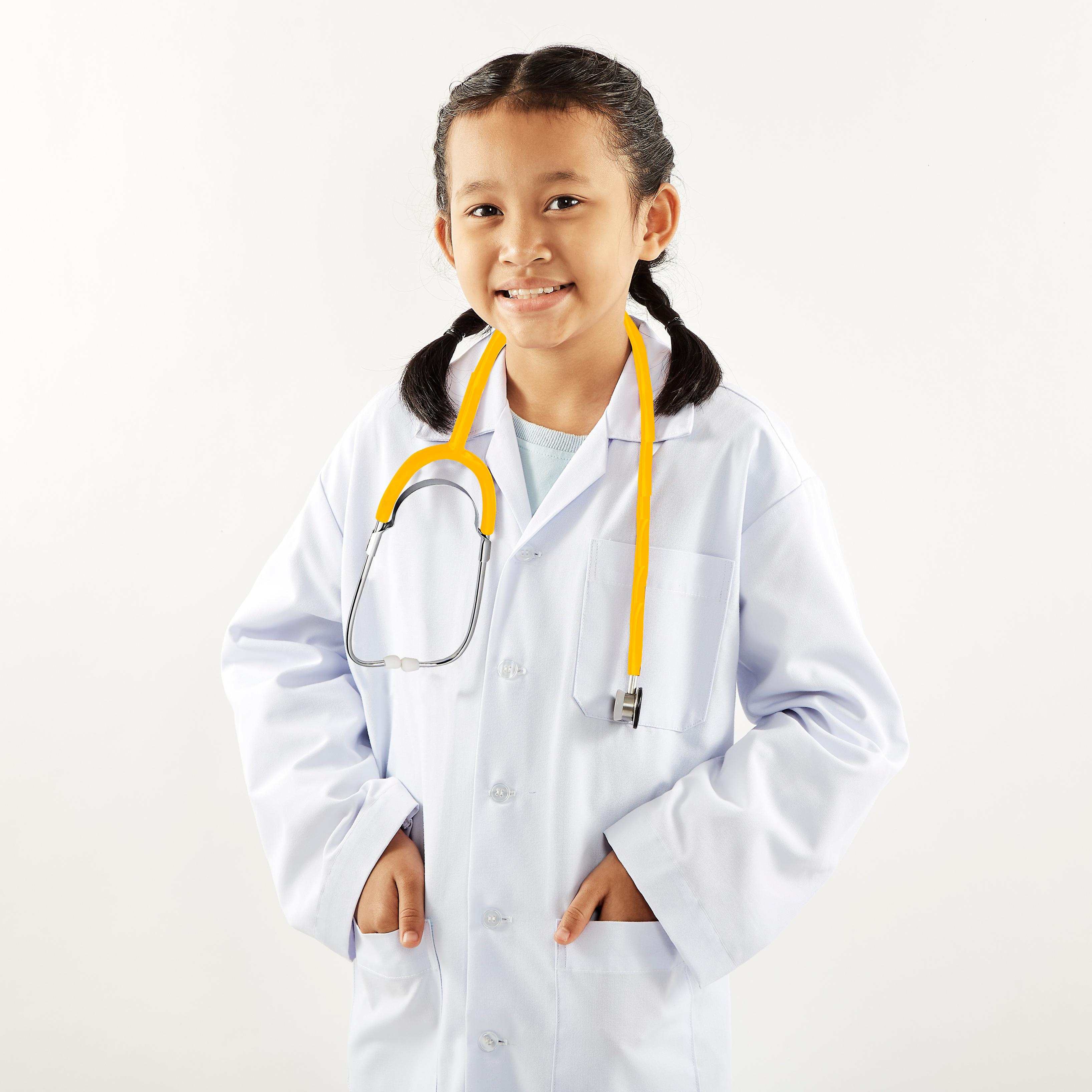 TRIXES Yellow Functional Toy Stethoscope Educational Fancy Dress Diaphragm & Bell Features